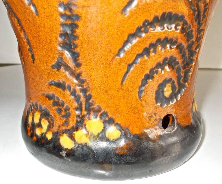 Late 19th Century Michael Andersen & Sons Ceramic Art Nouveau Lamp Base For Sale