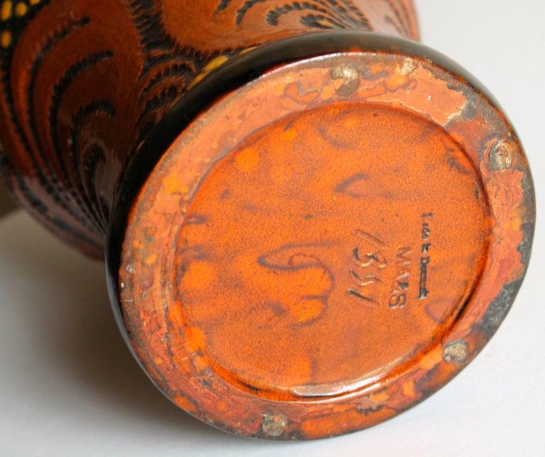 Michael Andersen & Sons Ceramic Art Nouveau Lamp Base For Sale 1