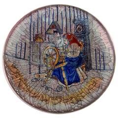 Michael Andersen, Denmark, Large Bowl in Glazed Ceramics with Weaver