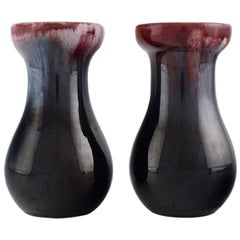 Michael Andersen, Denmark, Two Vases in Glazed Ceramics, 1950s