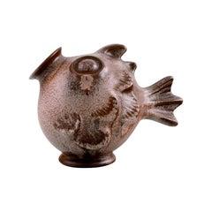 Michael Andersen, Rare Fish in Glazed Ceramics, 1950s