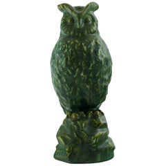 Michael Andersen. Rare Owl in Glazed Stoneware, 1950s-1960s