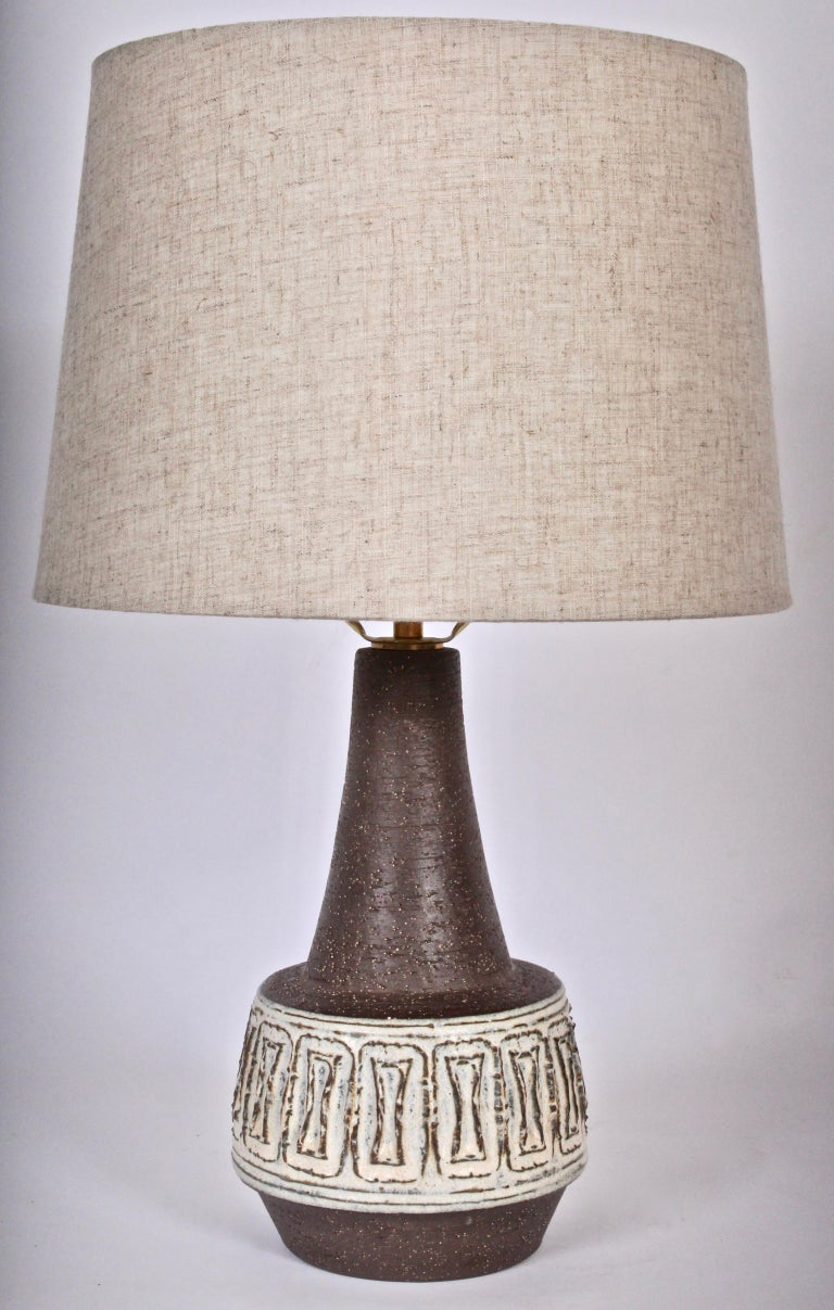 Michael Andersen & Son Bornholm Glazed Graphic Ceramic Table Lamp, 1960s For Sale 2
