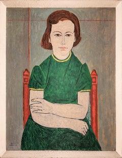 20th Century portrait 'Liliane', by Michael Argov