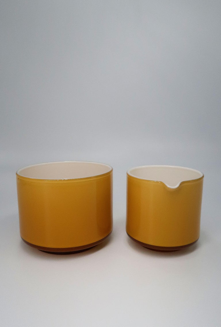 Michael Bang for Danish Holmegaard Glass Sugar Bowl and Creamer Set, 1970 In Good Condition For Sale In Frederiksberg, DK