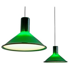 Michael Bang for Holmegaard Pair of Green Pendants