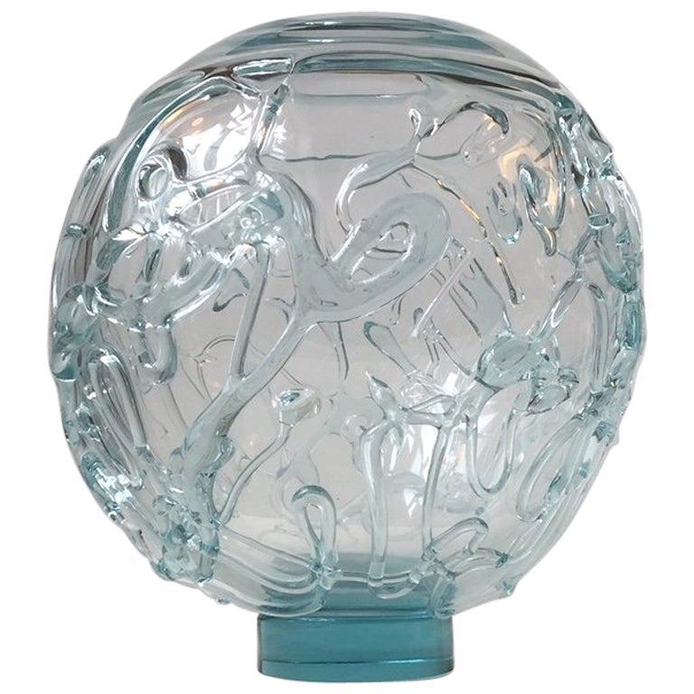 Michael Bang Spiderweb Studio Glass Vase for Holmegaard, Denmark