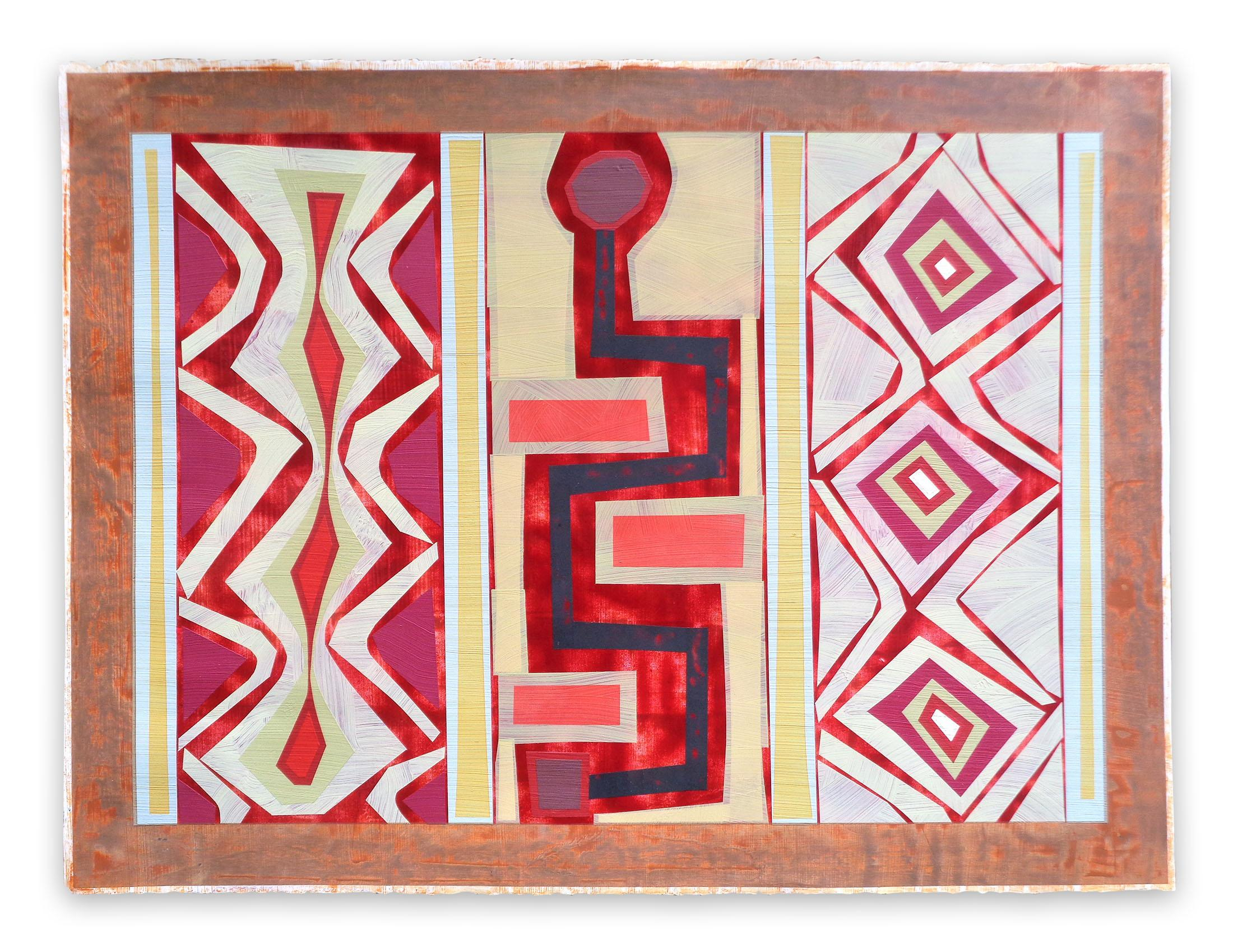 Organic Geometry (El Buey I), (Abstract Painting)