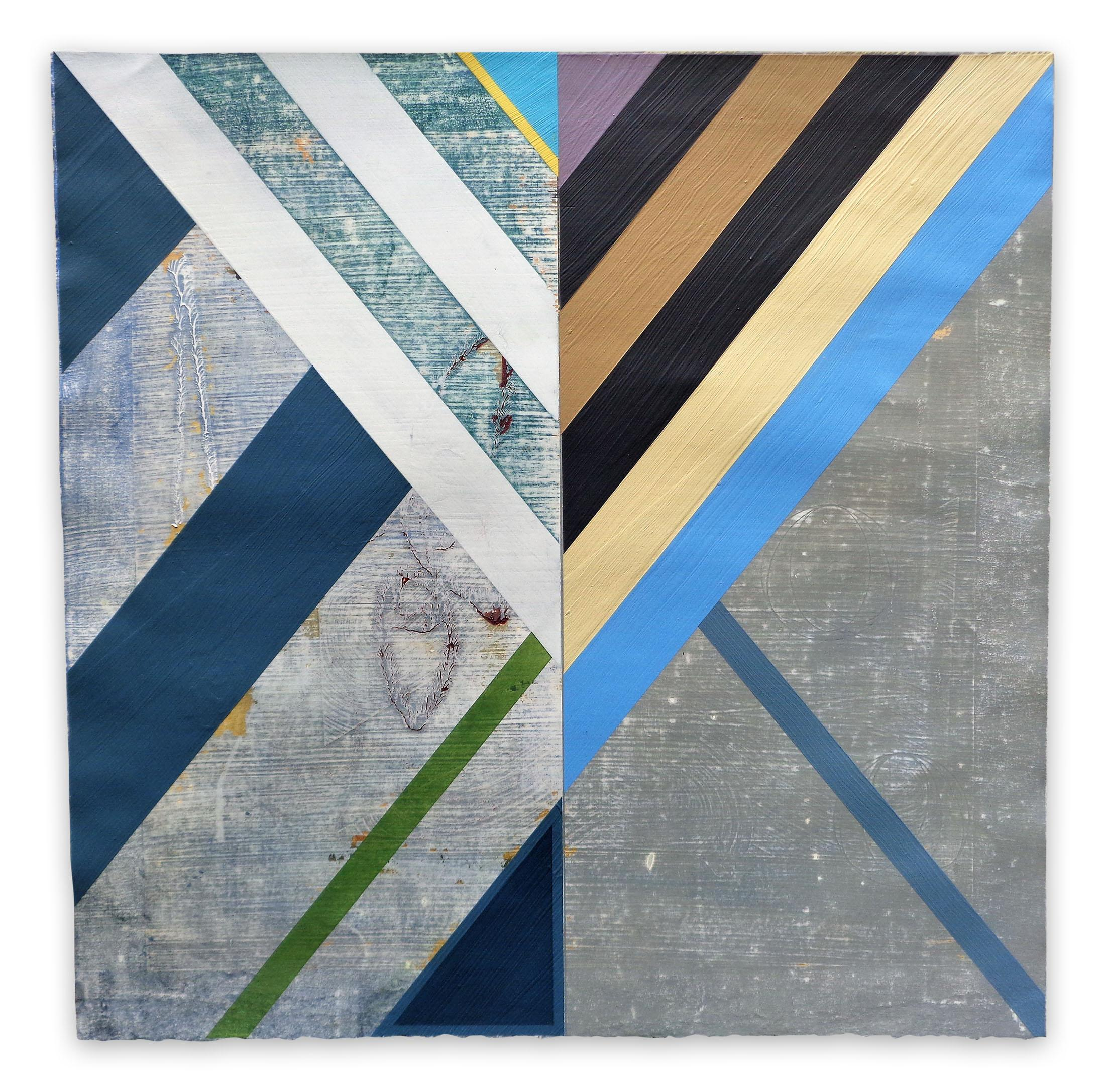 Organic Geometry (Sea Flags), (Abstract Painting)