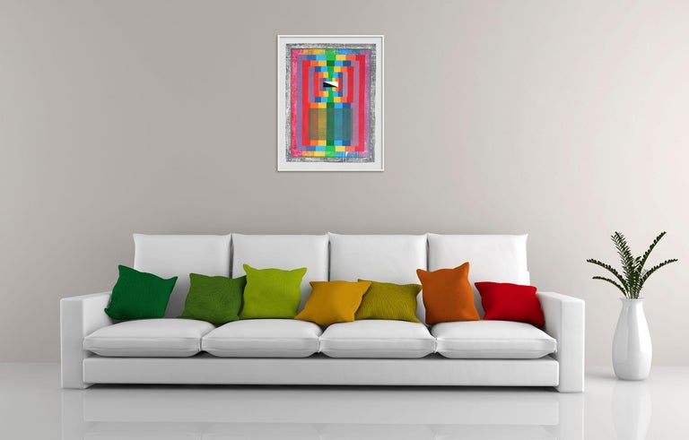 Organic Geometry (Spectrum I) , (Abstract Painting) - Art by Michael Barringer