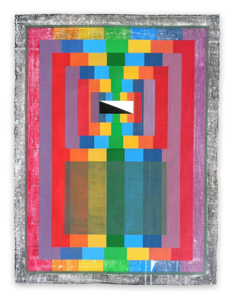 Michael Barringer Abstract Drawing - Organic Geometry (Spectrum I) , (Abstract Painting)