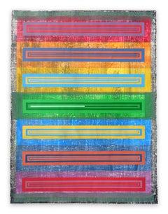 Organic Geometry (Spectrum II), (Abstract Painting)