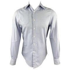 MICHAEL BASTIAN Size S Light Blue Cotton Button Up Long Sleeve Shirt