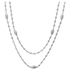 Michael Beaudry Platinum Necklace 80 Diamonds 5.50 Carat Argyle Station
