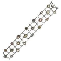 Michael Beaudry Multi-Color Diamond Bracelet
