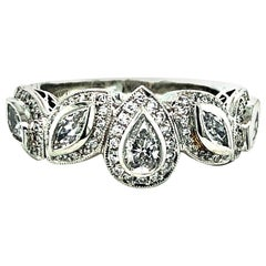 Michael Beaudry Platinum Diamond Ring