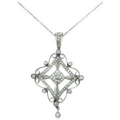 Michael Beaudry Platinum Ornate Diamond Pendant