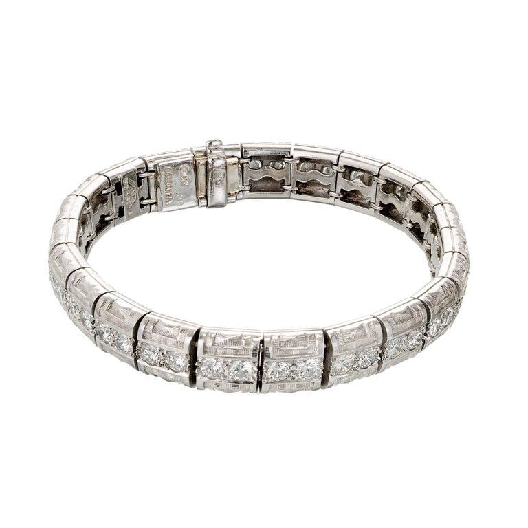 Michael Bondanza Aria 5.35 Carat Diamond Platinum Bracelet