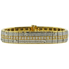 Michael Bondanza Diamond Platinum Gold Bracelet