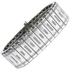 Michael Bondanza Metropolitan Platinum Diamond Bracelet