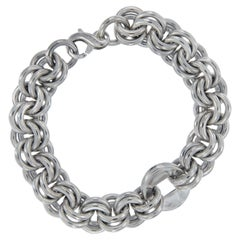 Michael Bondanza Sterling Silver Link Bracelet from the Mulberry Collection