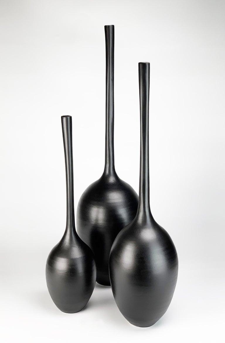 Michael Boroniec Abstract Sculpture - Gourd Vessels: Trio