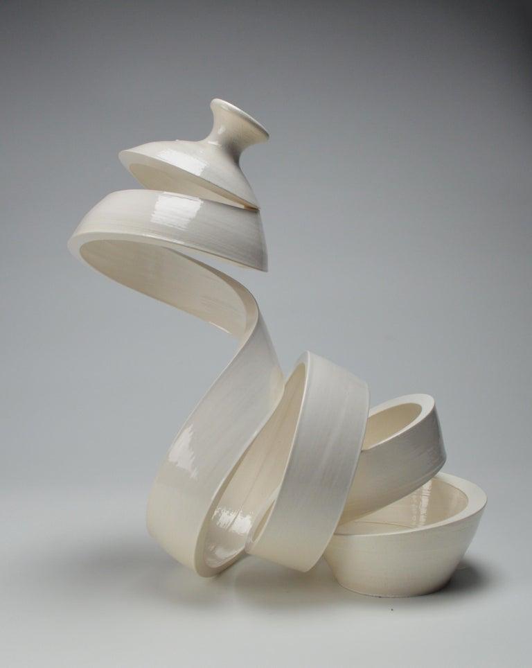 Michael Boroniec Abstract Sculpture - Spatial Spiral: Curve I