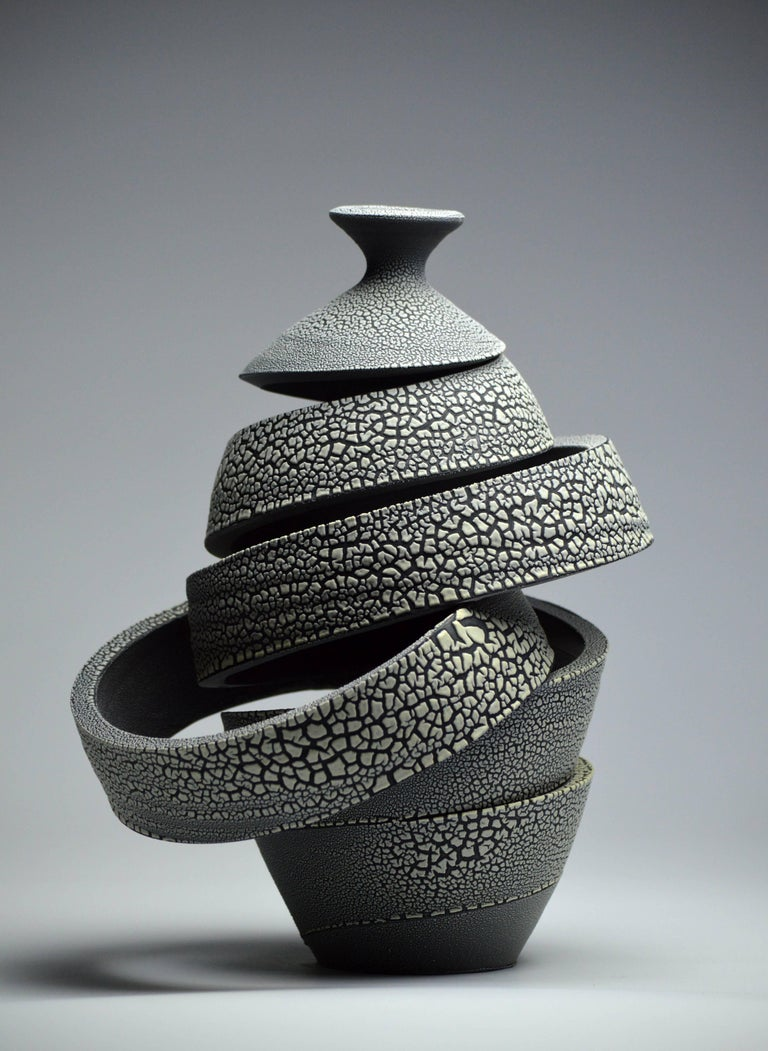 Michael Boroniec Abstract Sculpture - Spatial Spiral: Ribbon Crawl VII