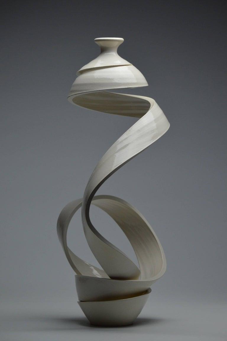 Spatial Spiral: Ribbon XIX - Sculpture by Michael Boroniec