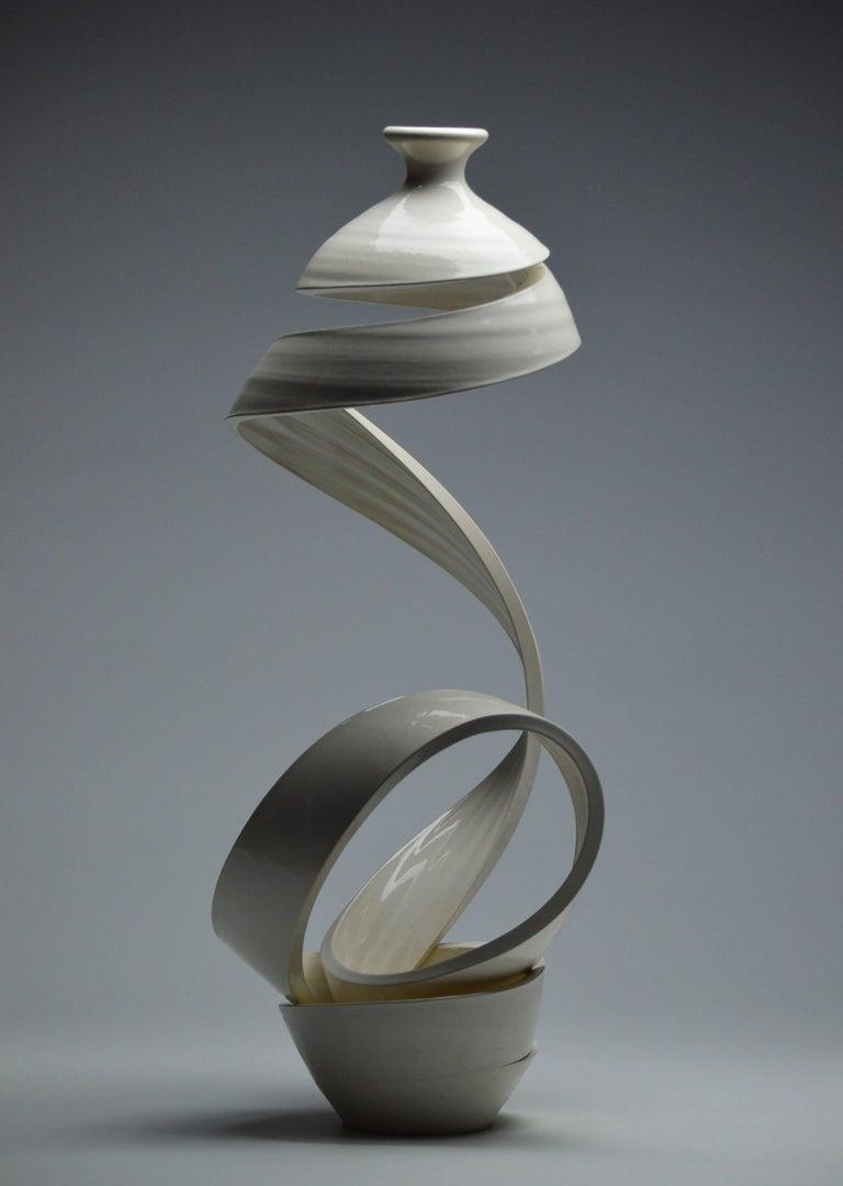 Spatial Spiral: Ribbon XIX - Contemporary Sculpture by Michael Boroniec