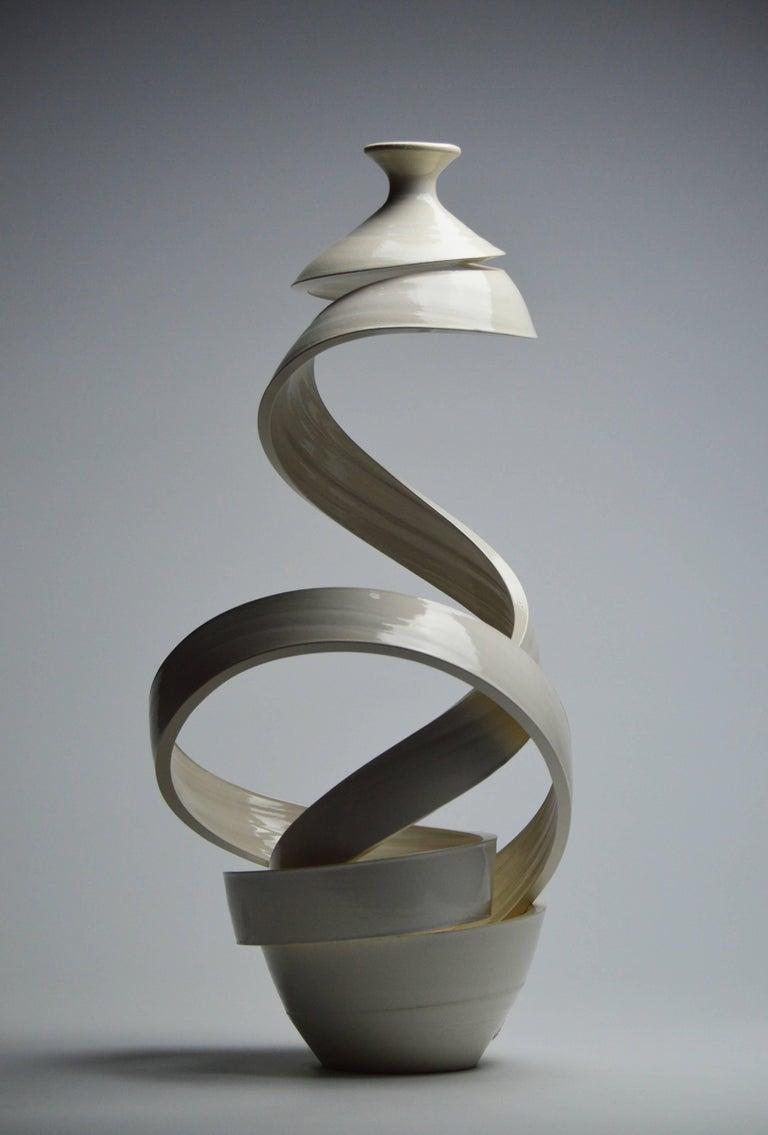 Spatial Spiral: Ribbon XX - Contemporary Sculpture by Michael Boroniec