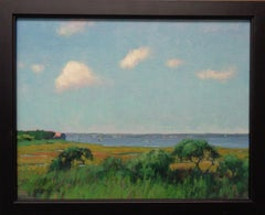 Beach & Ocean Impressionistic Seascape Marsh Oil Painting Michael Budden Boats