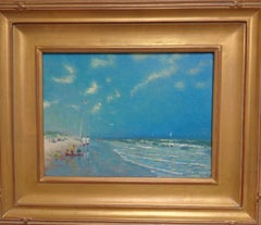 Beach & Ocean Impressionistic Seascape Oil Painting  by Michael Budden