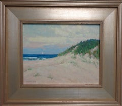 Beach & Ocean Impressionistic Seascape Oil Painting Dunes by Michael Budden