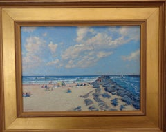 Beach & Ocean Impressionistic Seascape Oil Painting Michael Budden Jersey Shore