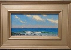 Beach & Ocean Impressionistic Seascape Oil Painting Michael Budden Summer Coast