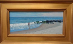 Beach & Ocean Impressionistic Seascape Oil Painting Michael Budden Summer Day