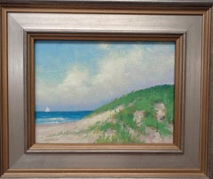 Beach & Ocean Impressionistic Seascape Oil Painting Michael Budden Summer Sky