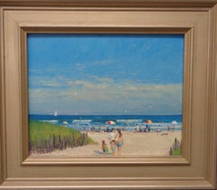 Beach & Ocean Impressionistic Seascape Oil Painting Michael Budden To The Beach