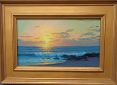 Beach & Ocean Impressionistic Seascape Painting Michael Budden Dawn By the Sea