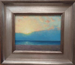 Beach Ocean Impressionistic Seascape Painting Michael Budden Morning Abstraction