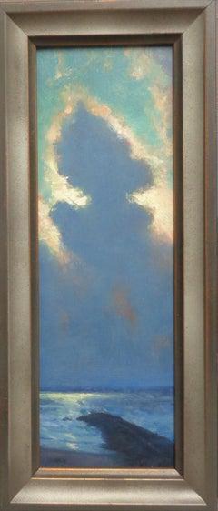 Beach Ocean Impressionistic Seascape Painting Michael Budden Mystical Moonlight