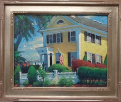 Impressionistic Seascape Mystic CT Painting Michael Budden The Captains House