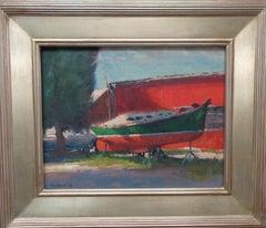 Boat Beach Ocean Impressionistic Seascape Painting Michael Budden Fresh Paint