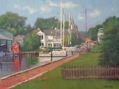Boat Impressionistic Seascape Painting Michael Budden St Michael's Harbor