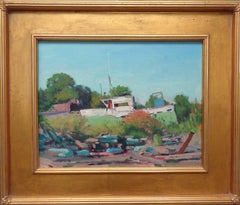 Boat Ocean Impressionistic Marine Painting by Award Winning Michael Budden