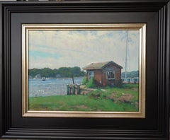 Boat Ocean Impressionistic Marine Painting by Michael Budden Mason;s Island Ct