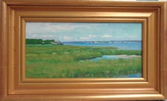 Ocean & Beach Marsh Impressionistic Seascape Oil Painting by Michael Budden