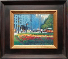 New York City Contemporary Landscape Oil Painting Central Park by Michael Budden