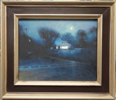 Moonlight Landscape Oil Painting by Michael Budden Country Moonlight